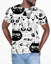 black cats meow All-over T-Shirt aos-all-over-T-shirt-lifestyle-front-04