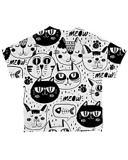 black cats meow All-over T-Shirt back