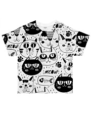 black cats meow All-over T-Shirt front
