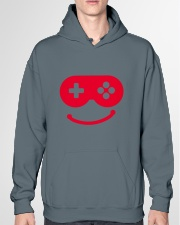joystick smail Hooded Sweatshirt garment-hooded-sweatshirt-front-04