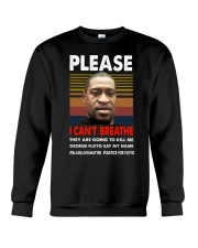 please I cant breathe 2020 black Crewneck Sweatshirt thumbnail
