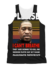please I cant breathe 2020 black All-Over Unisex Tank tile
