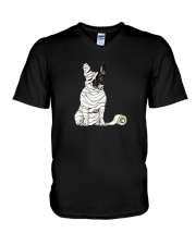 Mummy French Bulldog V-Neck T-Shirt thumbnail