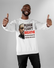 please I cant breathe Crewneck Sweatshirt apparel-crewneck-sweatshirt-lifestyle-front-05