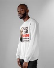 please I cant breathe Crewneck Sweatshirt apparel-crewneck-sweatshirt-lifestyle-front-06