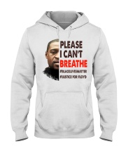 please I cant breathe Hooded Sweatshirt thumbnail