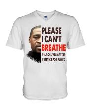 please I cant breathe V-Neck T-Shirt thumbnail