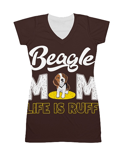 beagle mom life is ruff