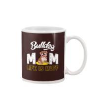 bulldog mom life is ruff Mug thumbnail