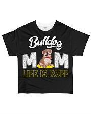 bulldog mom life is ruff All-over T-Shirt thumbnail