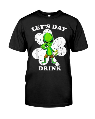 St Patricks Day Ufo Beer Drinking Let's Day