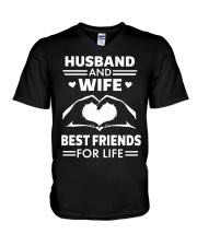HUSBAND and WIFE FOR LIFE V-Neck T-Shirt thumbnail