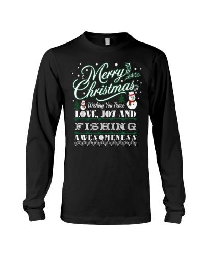 Merry Christmas Joy Fishing Outdoors Gift Tshirt
