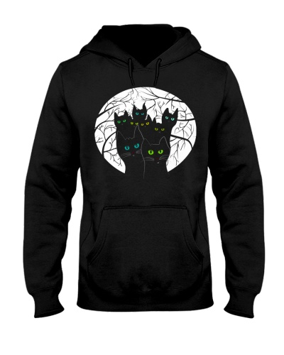 Halloween shirt - Cats in round with branches