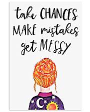 Take chances 11x17 Poster front