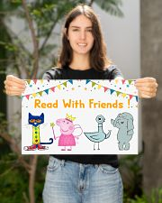 Read with Friends 17x11 Poster poster-landscape-17x11-lifestyle-19