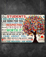 Dear students 17x11 Poster aos-poster-landscape-17x11-lifestyle-12