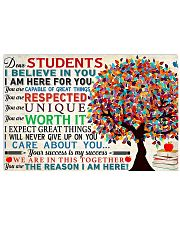 Dear students 17x11 Poster front