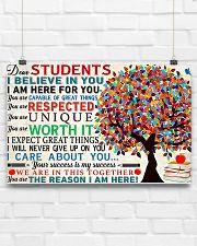 Dear students 17x11 Poster poster-landscape-17x11-lifestyle-17
