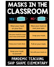 Masks in the classroom 11x17 Poster front