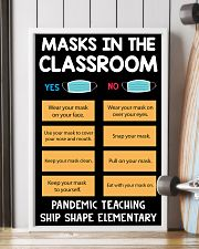 Masks in the classroom 11x17 Poster lifestyle-poster-4