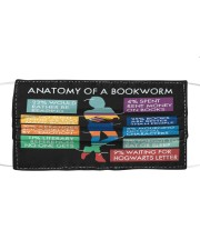 Anatomy of a Bookworm Cloth face mask front