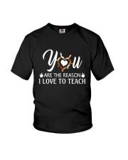 Reason I love to teach Youth T-Shirt tile