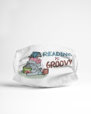 Reading is groovy Cloth face mask aos-face-mask-lifestyle-22