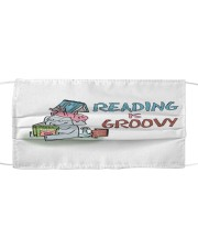 Reading is groovy Cloth face mask front