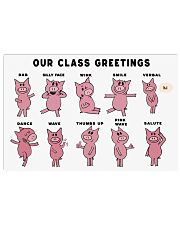 Our class greetings 17x11 Poster front