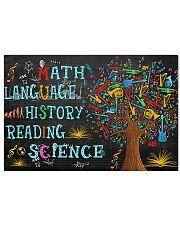 Math Language 17x11 Poster front