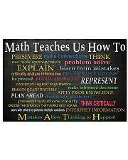 Math teaches 17x11 Poster front