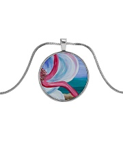 Beach Beauty jewelry Metallic Circle Necklace thumbnail