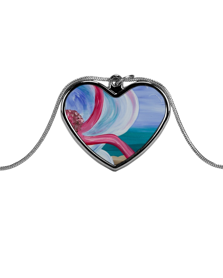Beach Beauty jewelry Metallic Heart Necklace
