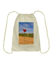Red Poppy accessories Drawstring Bag thumbnail