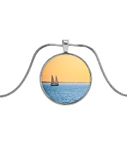 Florida Sunset 5 jewelry Metallic Circle Necklace thumbnail