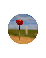 Red Poppy home  Circle Cutting Board front