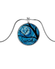A Night Wish jewelry Metallic Circle Necklace front