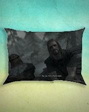 You're finally awake Pillow Rectangular Pillowcase Rectangular Pillowcase aos-pillow-rectangle-front-lifestyle-3