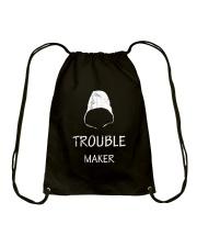 TROUBLE MAKER TSHIRT Drawstring Bag thumbnail