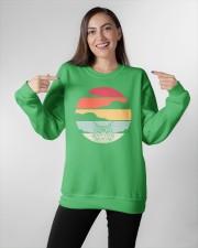 Maine Coon Cat Retro Style Crewneck Sweatshirt apparel-crewneck-sweatshirt-lifestyle-front-11