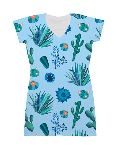 Cute Cactus All Over Dress