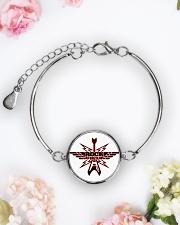 Rock Forever Metallic Circle Bracelet aos-bracelet-metal-front-lifestyle-6