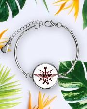 Rock Forever Metallic Circle Bracelet aos-bracelet-metal-front-lifestyle-7