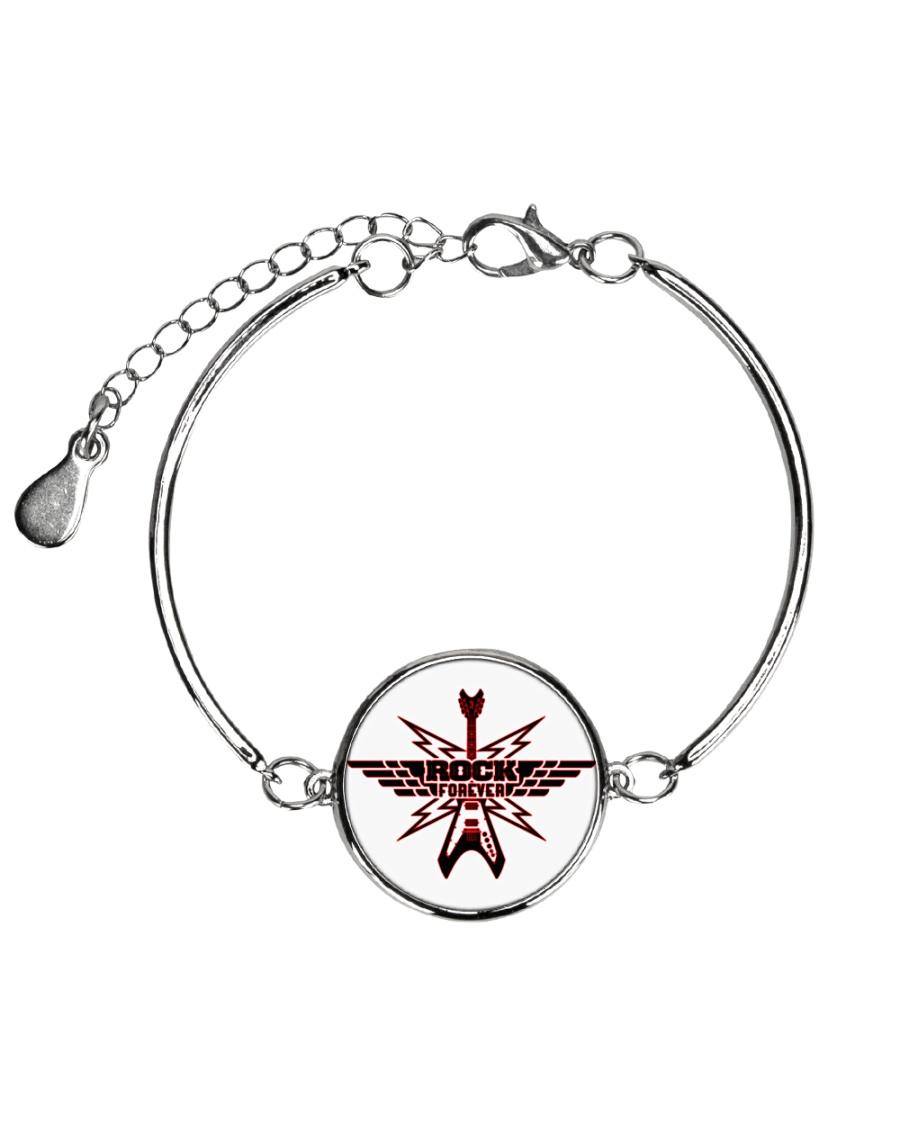 Rock Forever Metallic Circle Bracelet