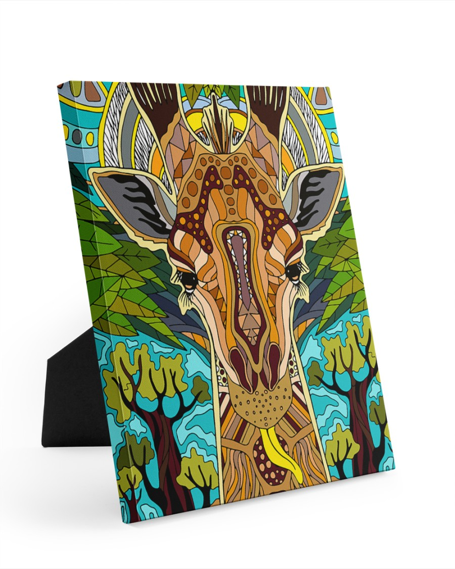 African Giraffe 8x10 Easel-Back Gallery Wrapped Canvas