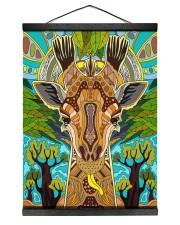African Giraffe 12x16 Black Hanging Canvas thumbnail