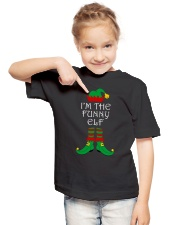 I'm The Funny Elf Matching Family Christmas Youth T-Shirt lifestyle-youth-tshirt-front-2