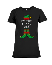 I'm The Funny Elf Matching Family Christmas Premium Fit Ladies Tee thumbnail