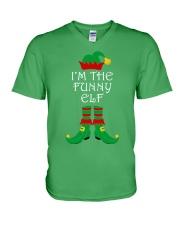 I'm The Funny Elf Matching Family Christmas V-Neck T-Shirt thumbnail